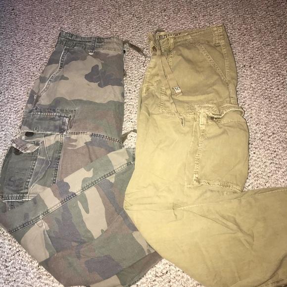 2/$30 Men's Abercrombie cargo camo pants